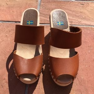 MIA Wooden Heeled Clogs